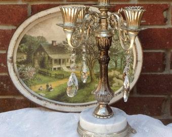 Vintage Candelabra Crystal Candelabra Wedding Candelabra Bridal Decor Wedding Decor Victorian Candelabra