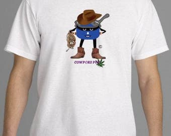 CowPoke Pothead - Design on front and back