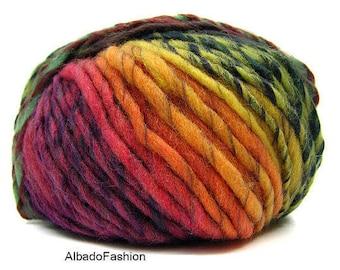 Wool and acrylic yarn HARMONY YARNART, sectional yarn, gradient yarn, lot yarn