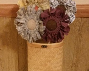Fabric and Burlap Flowers
