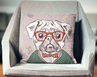 Pug Pillow | Pug Throw Pillow | Pug Pillow Cover | Pug Gift | Pug Decor | Pug Cushion | Pug Home Decor