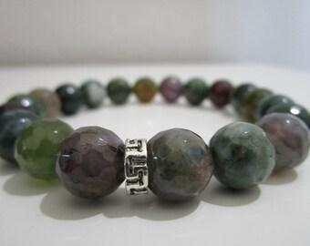 Agate india bracelet, Tibetan jewelry, Chakra bracelet, Yoga, Yoga bracelet, Mens stone bracelet, Energy stone bracelet, Gift for men, Gift