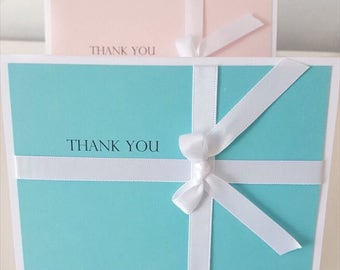 Thank You Cards | Bridal Shower | Robins Egg Blue | Baby Pink | Baby Shower