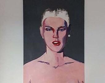 Portrait - acrylic painting - original image - canvas - unique