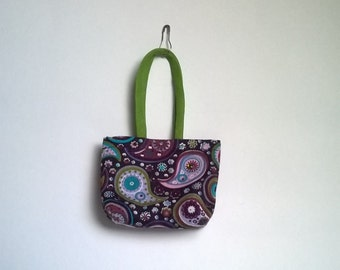 Barbie bag and shopper in purple Paisley Muster