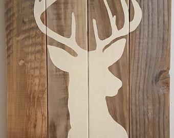 Deer on Reclaimed Wood