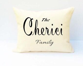 Last Name Pillow, Personalized Pillow, Name Pillow, Family Name Pillow, Custom Wedding Pillow, Custom Name Pillow, Pillow.