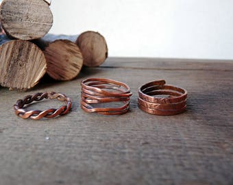 FREE SHIPPING** Set n. 3 rings.
