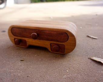 Wooden storage box, TV remote box, Battery holder, jewelry box, remote control, caddy, bandsaw box, dog chewing, tv, handmade