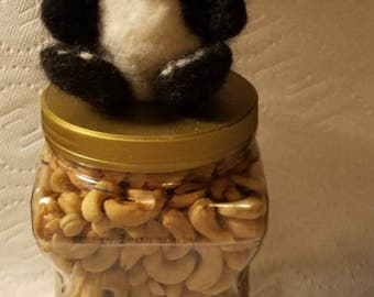 Needle Felted Miniature Panda Bear FREE SHIPPING in the USA