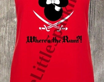 Disney pirates  / Minnie pirate tank // Disney cruise / pirates of the Caribbean /  epcot food and wine / Disney cruise pirate night