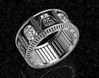 darth vader wedding ring wars wedding etsy 3313