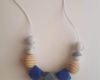 Teething Necklace/Silicone Bead Necklace/Mommy Necklace