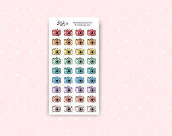 Camera Stickers / Photoshoot, Photography Filming, Youtube Stickers  / Planner Stickers / Mini Stickers / Rainbow Stickers | D31