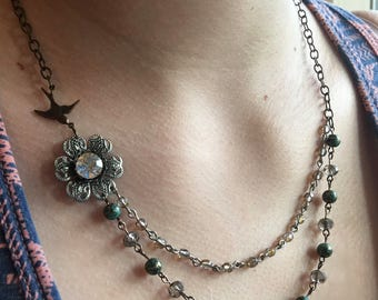 Mixed metals necklace.