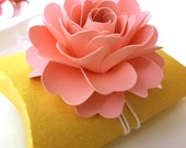 Favor Box Topper | Pink Paper Flowers (Set of 20)
