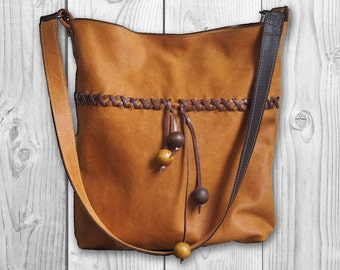 Shopper bag, Leather Shopper, Leather bag, Handmade Leather shopper, Leather tote, Leather Handbag, Gift for her, Leather bag for woman