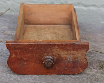 Cute Little Vintage Wooden Drawer with Knob