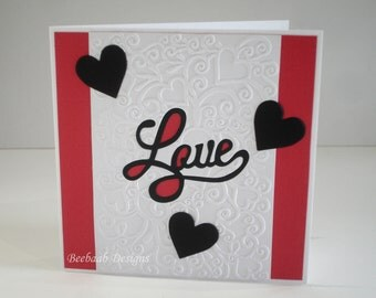 "Handmade ""Love"" retro lettering card for weddings, anniversaries, engagements"