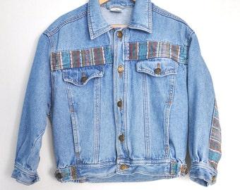 Kids vintage denim jacket, 90s kids jacket