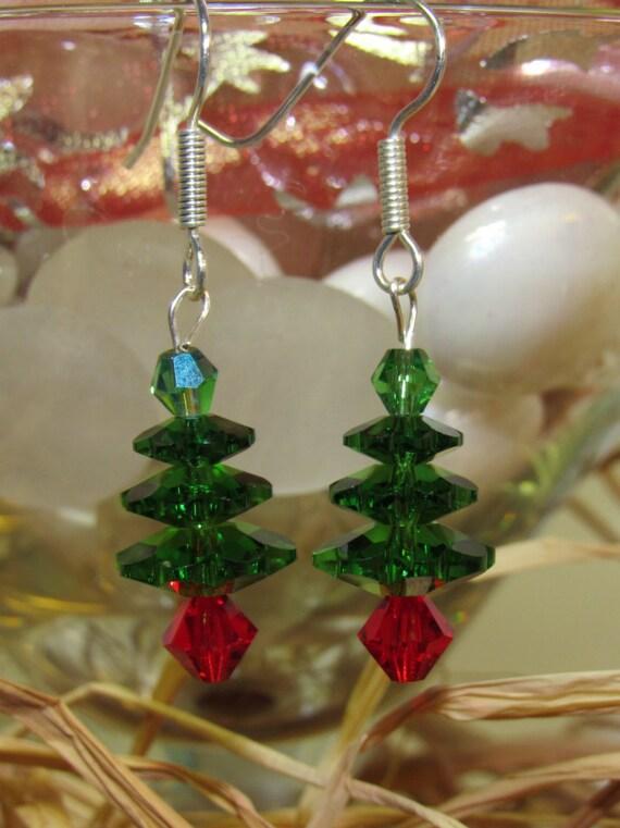 Swarovski Crystal Christmas Tree earrings CT-07