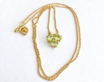 Peridot necklace, 14k gold peridot pendant, gold peridot necklace, peridot jewellery, peridot jewelry, gold filled peridot necklace