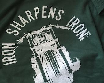 MENS TSHIRT - Motorcycle T-Shirt - Iron Sharpens Iron