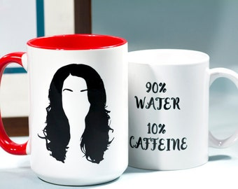 RTS Lorelai Gilmore: Water and Caffeine, 11 oz Coffee Mug, Gilmore girls - READY to SHIP
