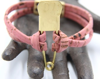 Cork Bracelet with Magnetic Clasp