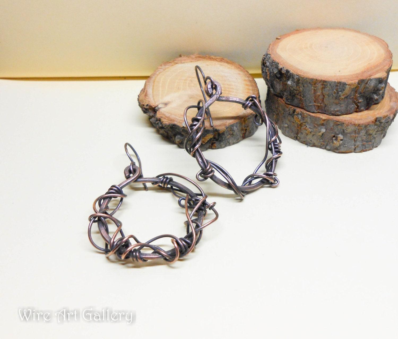 Krone von Dornen Ohrringe / Steampunk Hoop Runde Ohrringe