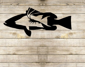 Grouper decal | Hogfish decal | lobster decal | fishing decal | yeti decal | rtic Decal | laptop decal | car dcal