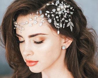Bridal Hair Vine, Bridal Headpiece, Crystal and Pearl Wedding Hairpiece, Wedding hair vine, Wedding hair accessories,Bridal wreath,headband