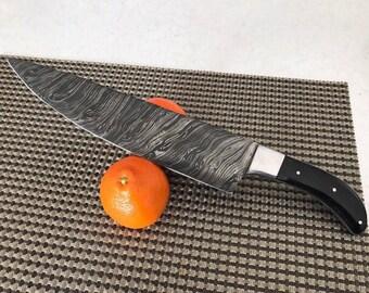 custom handmade damascus steel chef knife -  14 inches