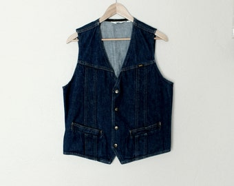 1970s Vintage Lee Denim Vest