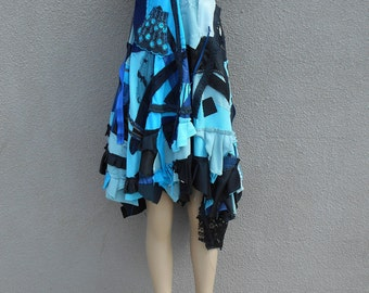 One of a Kind Blue Shabby Chic Up-Cycled Dress