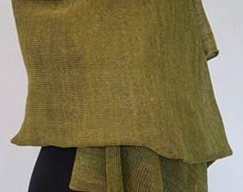 Salad green linen scarf, green scarf, green scarves, summer scarf, summer scarves, knit scarf, knit scarves, linen shawl, green shawl