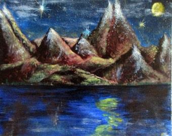 Mountains, fantasy, landscape