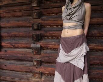 Desert Hippie Skirt Eco Vegan Psytrance Psychedelic