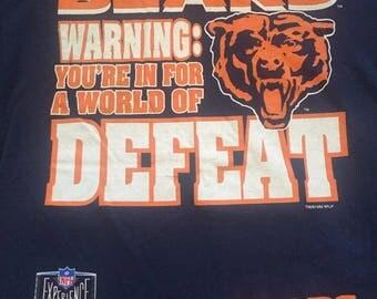 Vintage Pro Player NFL Chicago Bears Shirt 90s VTG Size Large