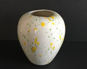Vintage vase with speckled design