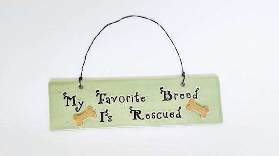 SALE - 25% Off - Ceramic Animal Rescue Sign - Animal Rescue - Pottery - Stoneware - Dog Rescue - Animal Rescue Sign - Wall Hanging - Dog Art