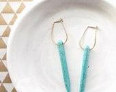 Boho Earrings / Turquoise Earrings / Hoop Earrings / Dangle Earrings / Gemstone Earring / Turquoise Jewelry / Gifts Under 50 / Handmade