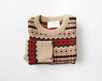 1970's Jantzen Cabin Knit Holiday Sweater