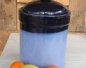 Compost Crock Natural Kitchen- Two Blues