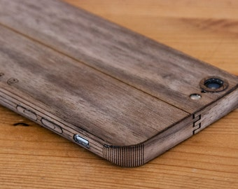 Walnut iPhone Case / Wrap - Smooth Style - Lumber Armor - For iPhone 7, iPhone 6S, iPhone 6 - Available in Bamboo, Zebrawood, Teak & more!
