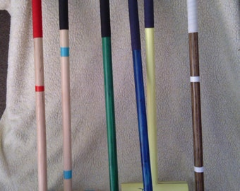 Custom Croquet Mallets, hand made, dyed or painted finish