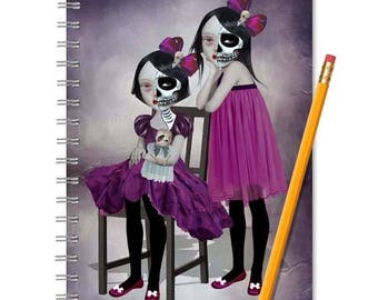 Day Of The Dead  Notebook - Day Of The Dead Journal - LINED OR BLANK pages, You Choose