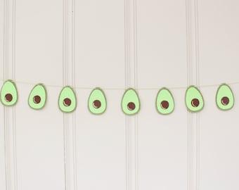 Avocado Garland - Felt Garland - Avocado Decor - Wall Hanging