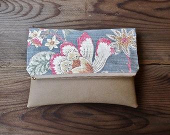 Floral Foldover Clutch