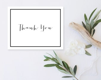 Blank Thank Yous, SIMPLE THANK YOU Cards, Bridal Shower Thank You, Thank You Gift, Wedding Thank Yous, Blank Note Card, Thank You Cards Set